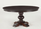 black wood 60 inch round pedestal dining table