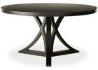 black wood 60 inch round pedestal dining table furniture