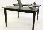 black wood butterfly leaf dining table set