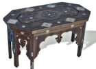 black wood moroccan style coffee table