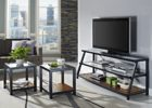 black wood tv stand and coffee table set