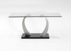 brushed nickel coffee table sets
