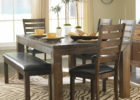 butterfly leaf dining table set with bench
