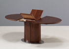 butterfly oval dining table pedestal base transition in espresso