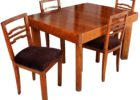 cheap butterfly leaf dining table set