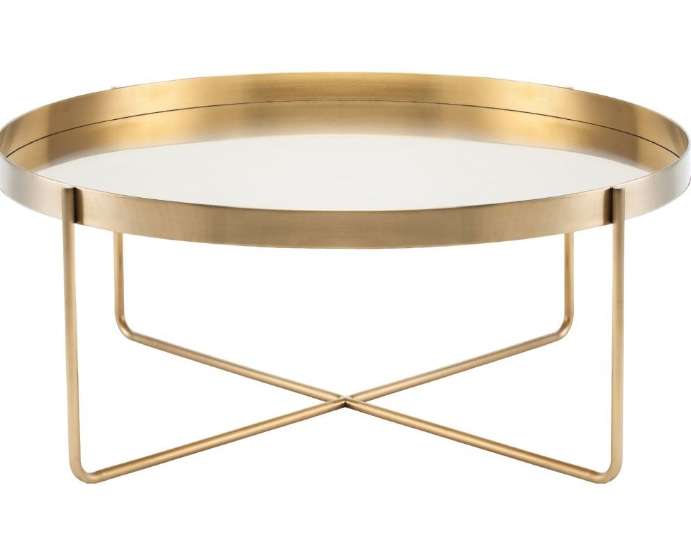 cheap gold coffee table tray sale