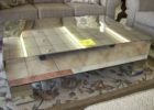 cheap mirrored coffee table modern sale