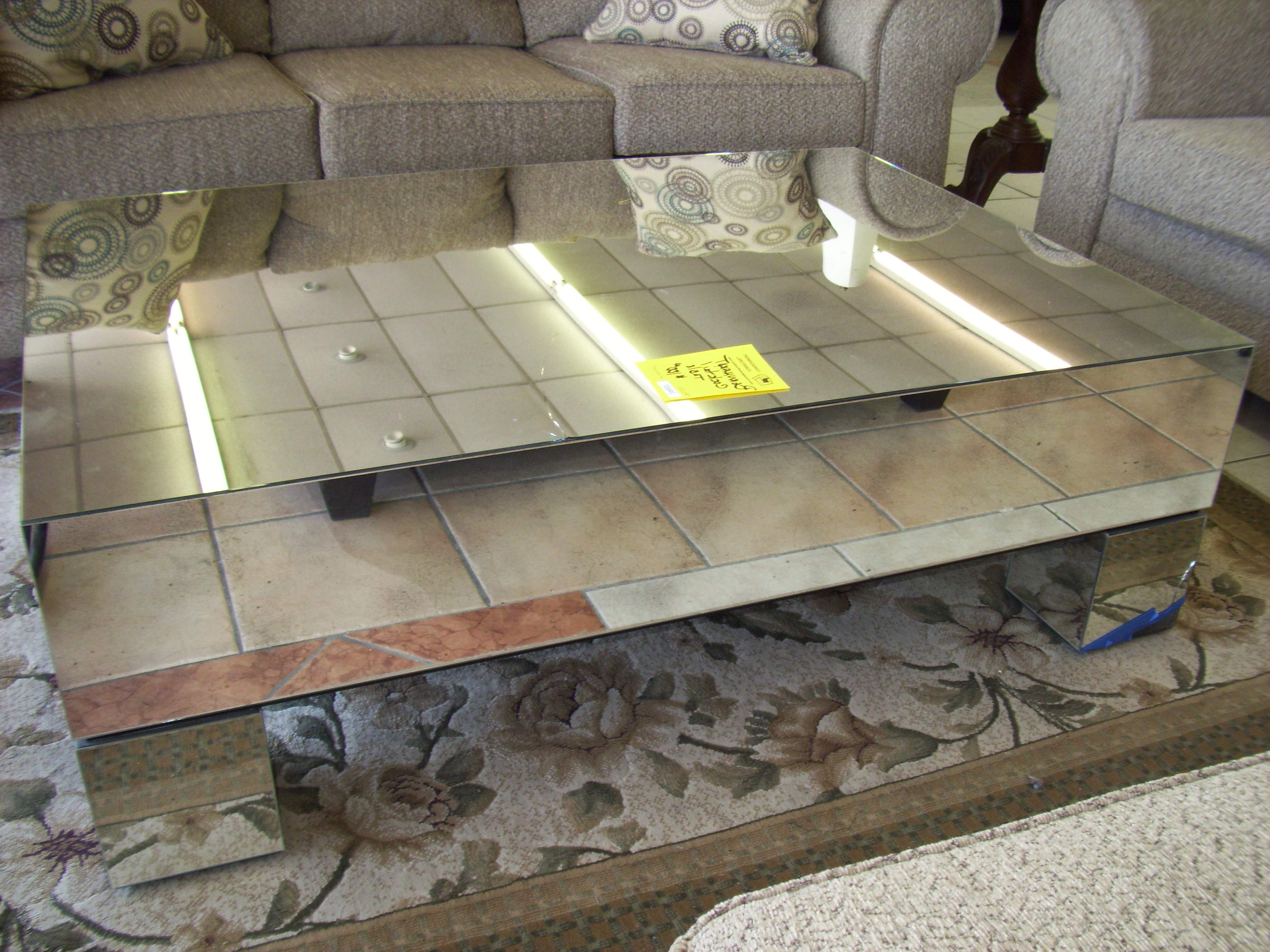 cheap mirrored coffee table modern sale