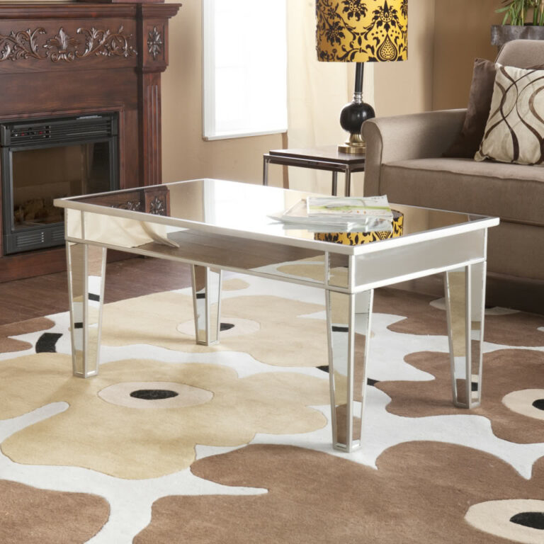 cheap mirrored coffee table square sale