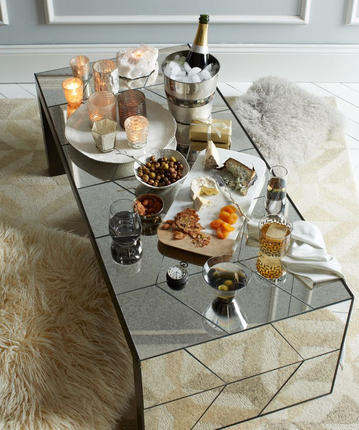 cheap mirrored coffee table square
