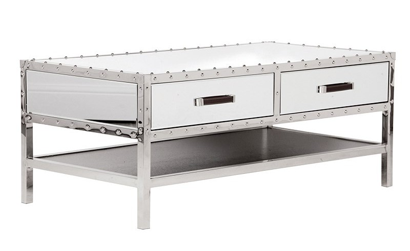cheap mirrored coffee table with storage