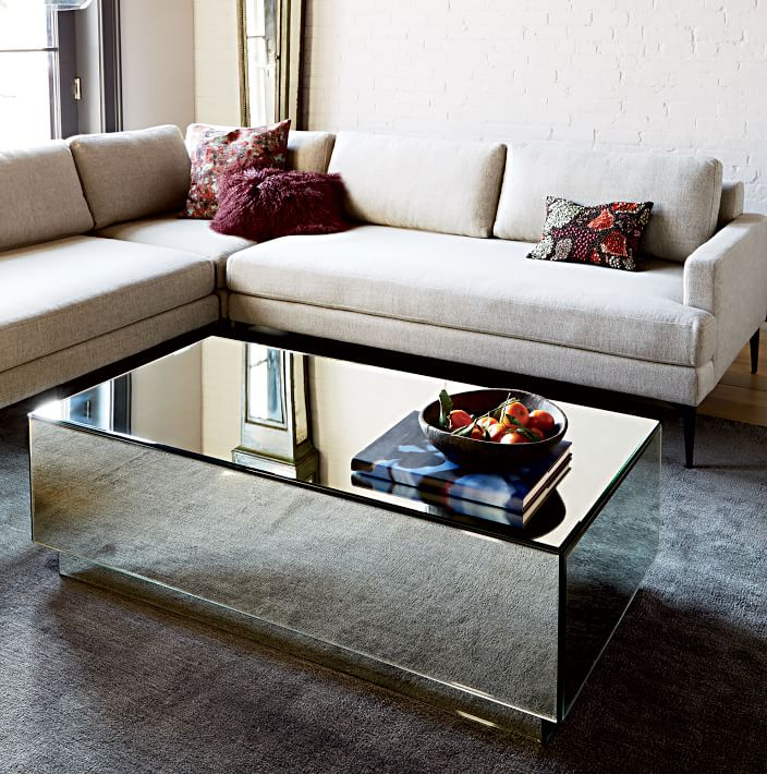 cheap mirrored coffee table