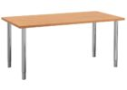 cheap modern wood dining table with metal legs
