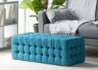 cheap tufted ottoman navy blue coffee table
