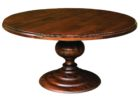 cheap wood 60 inch round pedestal dining table