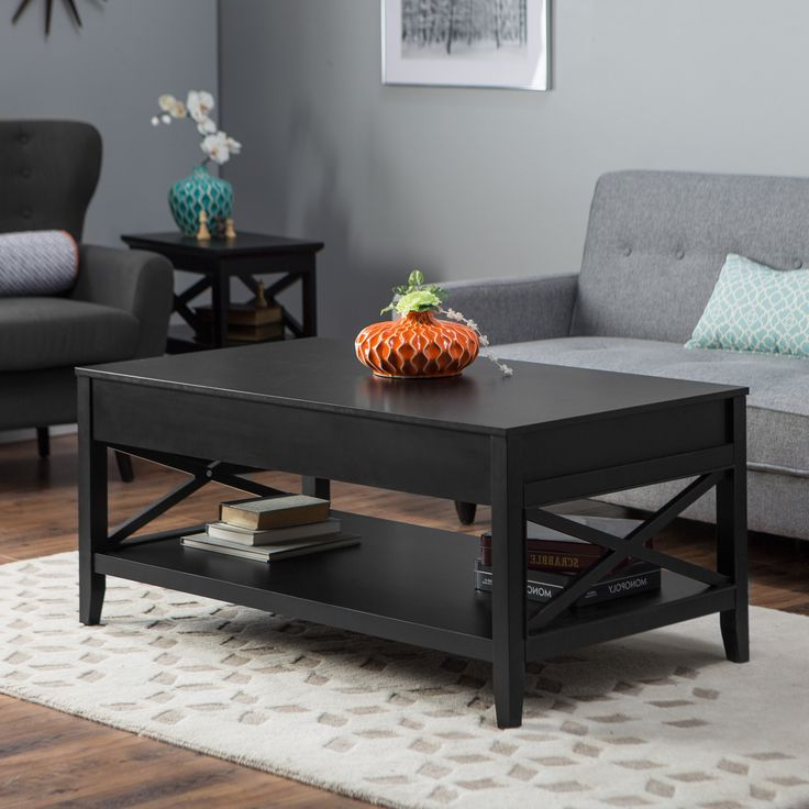 cheap wood black coffee and end table sets
