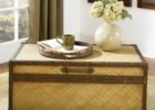 chest wicker trunk coffee table target