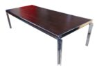 chrome and wood coffee table dark wood