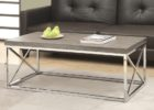 chrome and wood coffee table faux wood