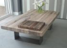 chrome and wood coffee table reclaimed wood