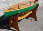 classic canoe coffee table with paddle
