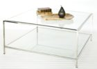 clear large square acrylic coffee table