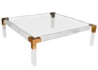 clear square acrylic coffee table