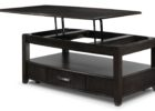 coffee tables that lift black with storage