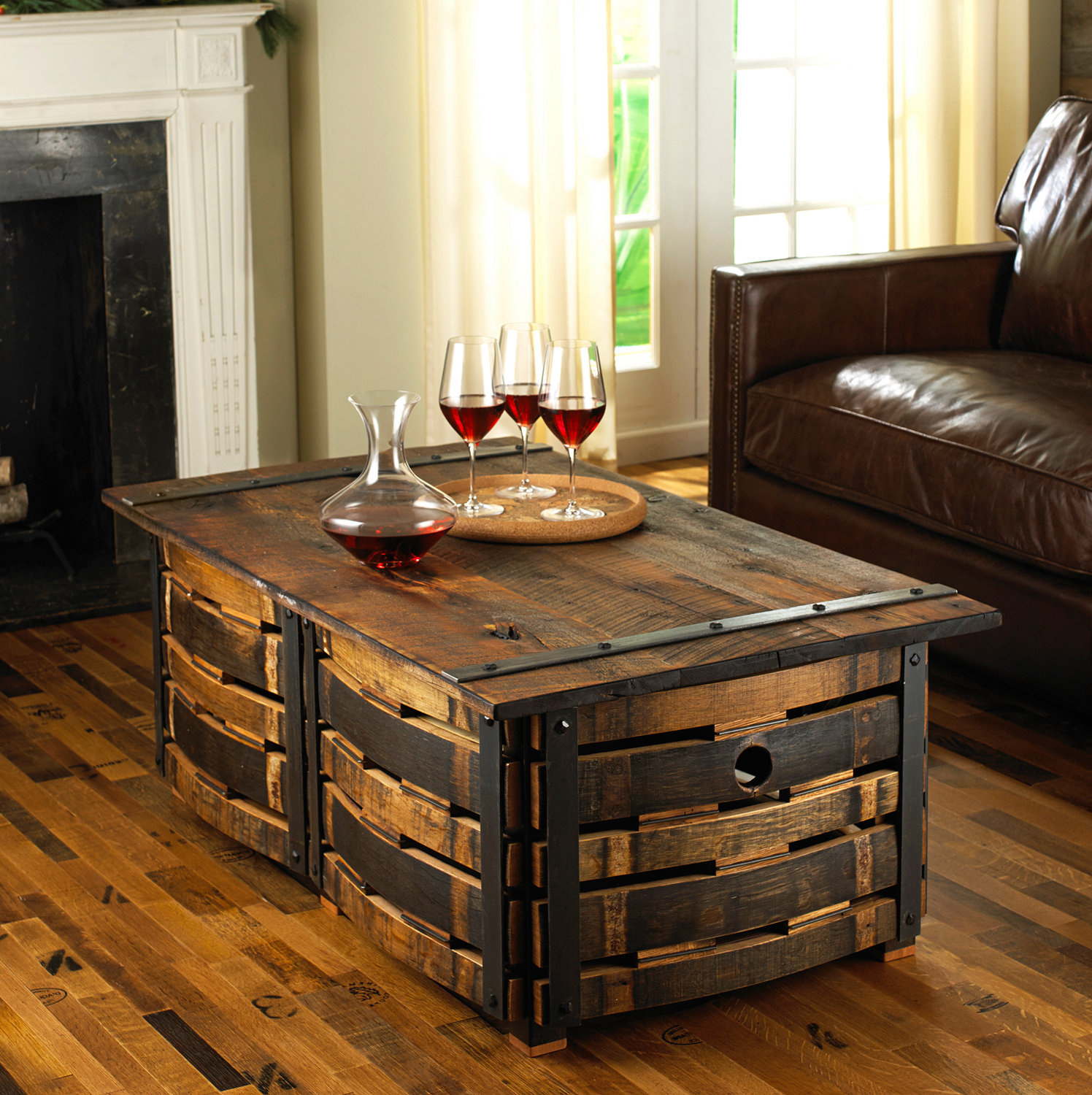 coffee tables under $50 reclaimed wood