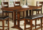 counter height butterfly leaf dining table set
