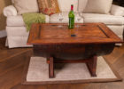 crate wooden barrel coffee table uk