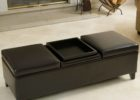 cushion coffee table with storage and tray