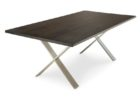 dark wood chrome and wood coffee table