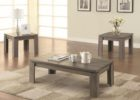 dark wood coffee table set