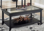 dark wood coffee table set for sale