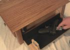 diy hidden compartment coffee table gun