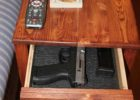 diy plans hidden compartment coffee table gun