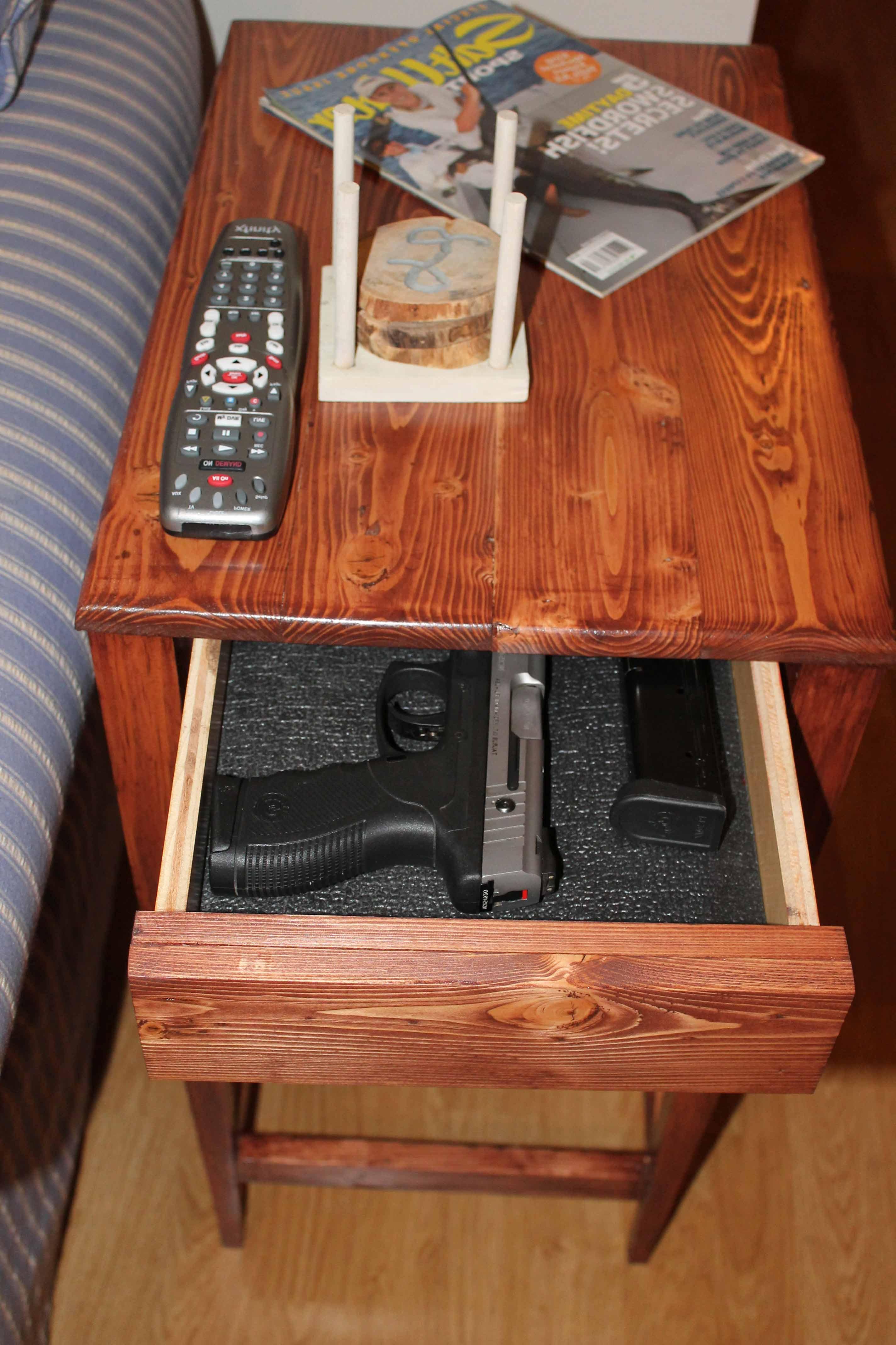 Diy Plans Hidden Compartment Coffee Table Gun