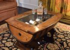 diy wooden barrel coffee table