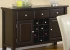 espresso buffet tables for dining room