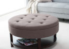 fabric tufted cushion coffee table with storage