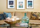 glass beach themed coffee table decor ideas