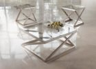 glass brushed nickel coffee table