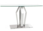 glass brushed nickel coffee table legs