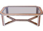 glass chrome and wood coffee table