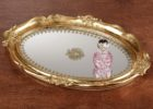 gold coffee table tray
