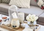 gold coffee table tray accent