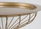 gold coffee table tray design