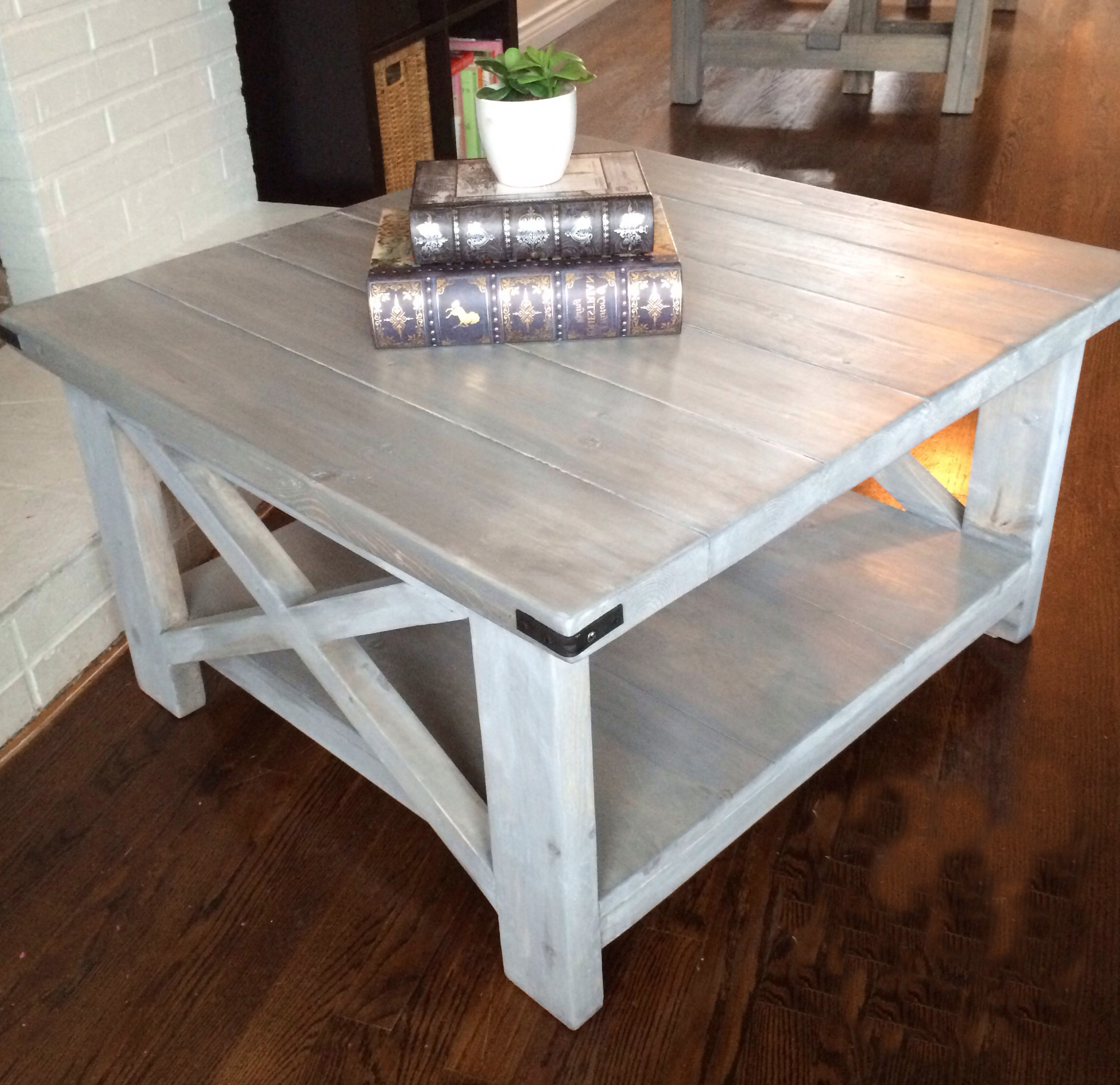 grey wash coffee table how to