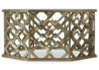 hexagonal gold coffee table tray